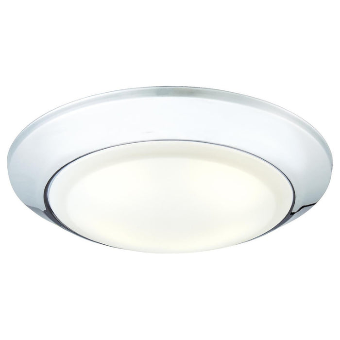 Westinghouse 63226 LED Indoor/Outdoor Dimmable Surface Mount Wet Location, Chrome Finish with Frosted Lens