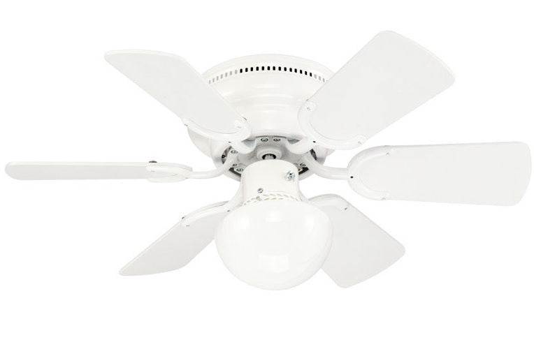 Westinghouse 72135 Petite Ceiling Fan With Light Kit White