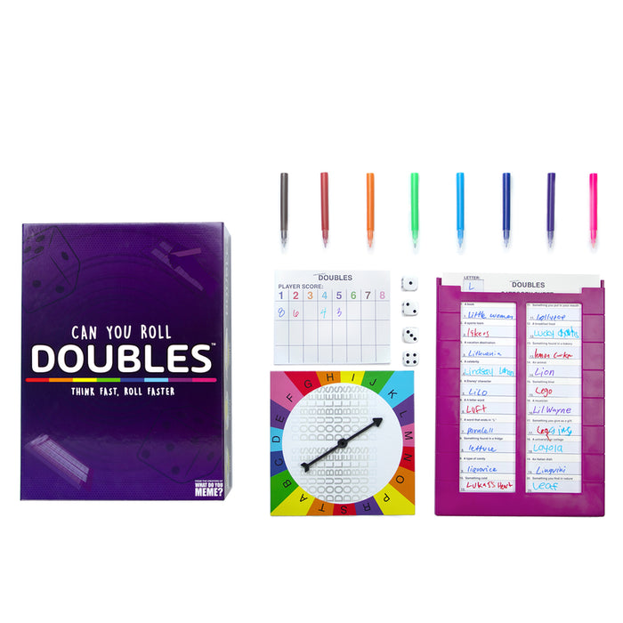 What do you Meme DBL410 Doubles Board and Dice Game, Multicolored