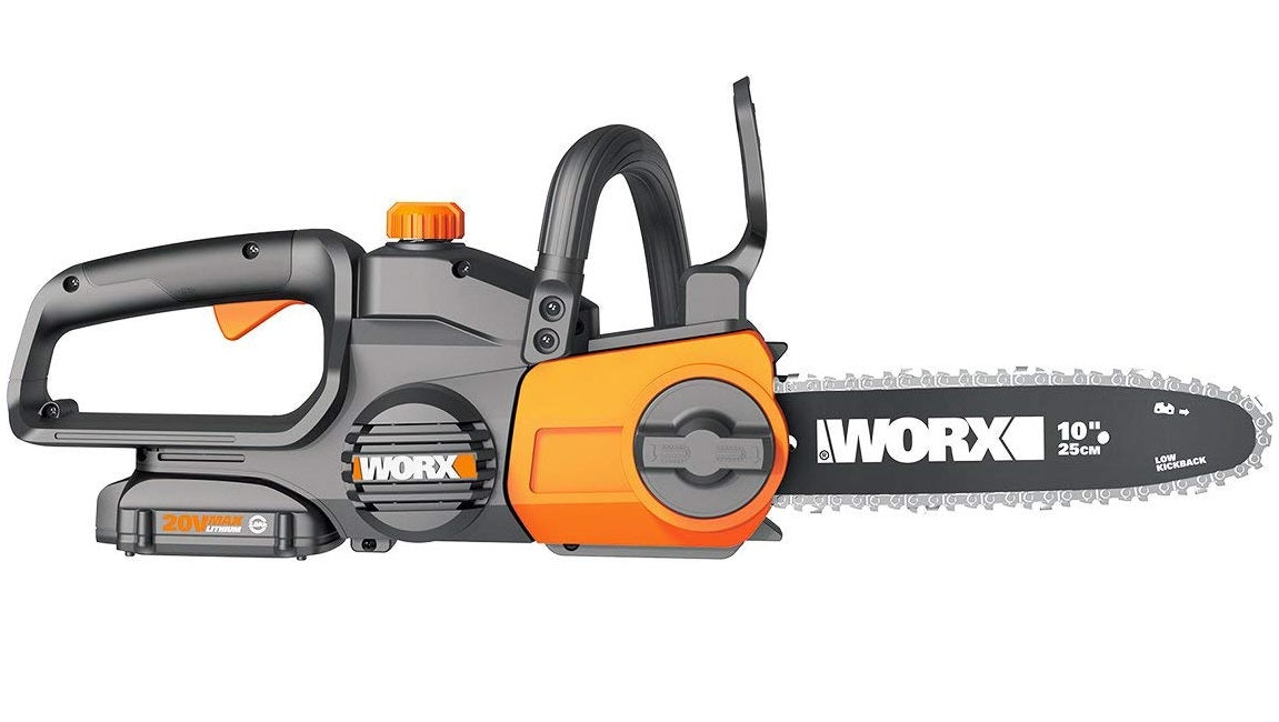 Worx WG322 Cordless Chain saw With Auto-Tension, 20 Volts
