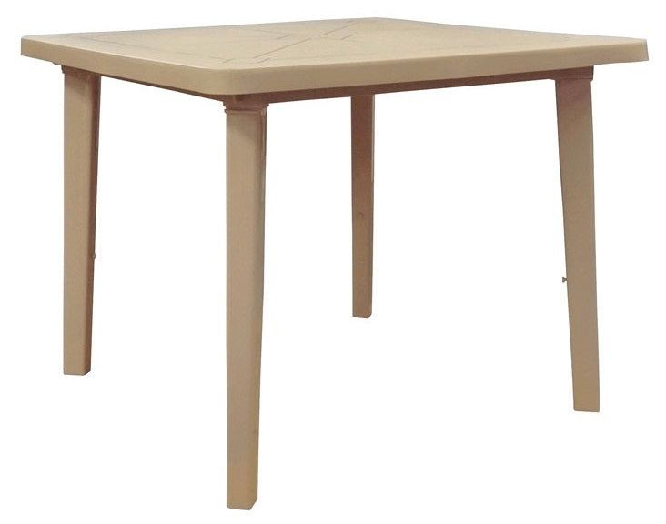 Adams 8170-96-3770 Square Table, Resin, Beige