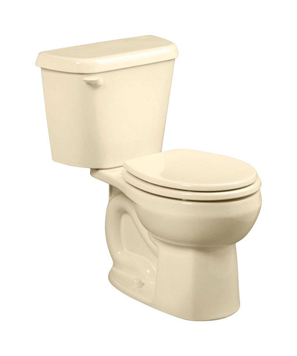 American Standard 751DA101.021 Colony Round Complete Toilet, 1.28 Gallon, Bone