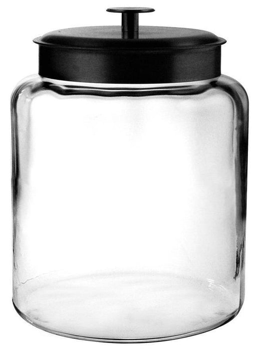 Anchor Hocking 96712 Mini Montana Jars with Black Metal Covers, 96 OZ