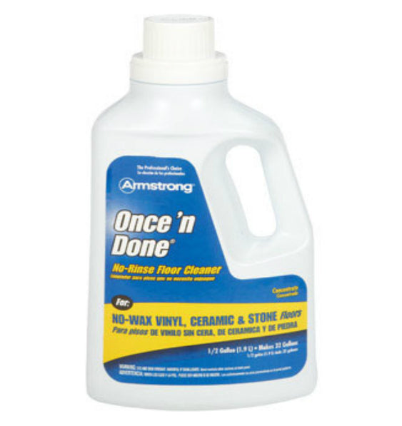 Armstrong 00330806 Once 'N Done Concentrated Floor Cleaner, 1/2 Gallon
