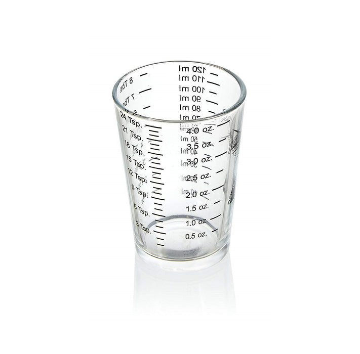 Arrow Plastic 00835 Heavy Duty Measuring Glass, 4 oz, Assorted Color