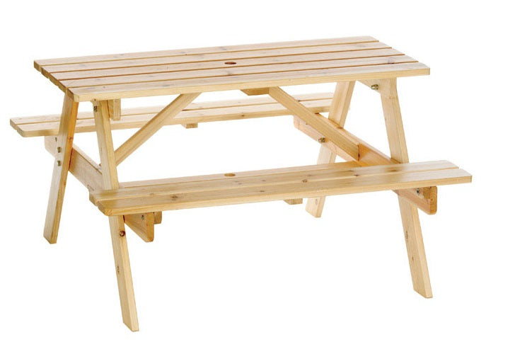 Peachy Astonica 50100392 Junior Wooden Picnic Table For Kids 38 6 X 38 6 X 22 3 Ibusinesslaw Wood Chair Design Ideas Ibusinesslaworg