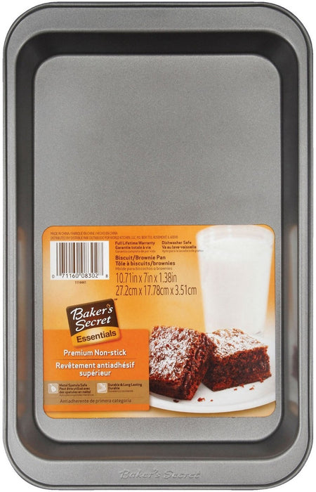 Baker's Secret 1114441 Biscuit & Brownie Pan, Non Stick, 11