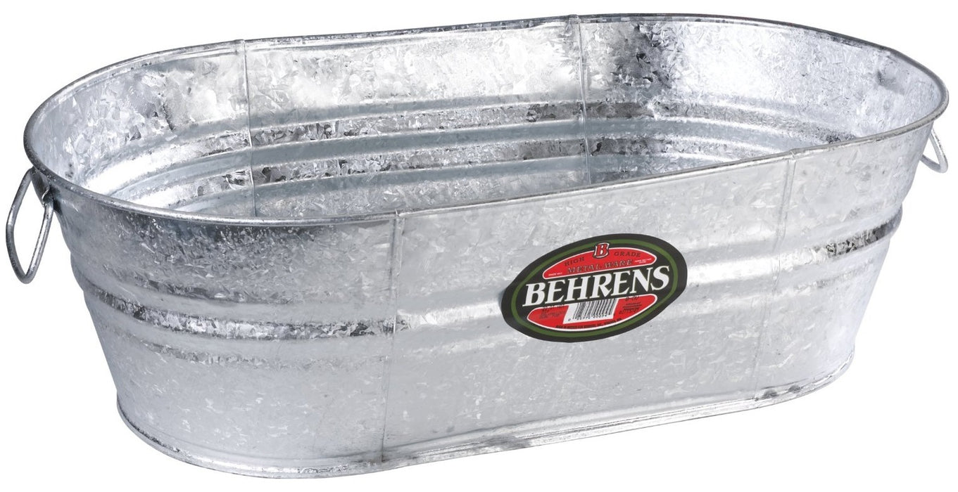 Behrens 0-OV Hot Dipped Steel Oval Tub, 5.5 Gallon