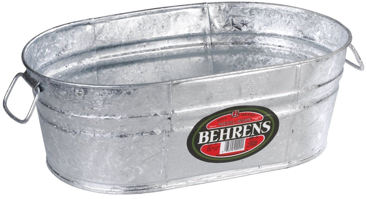 Behrens 00-OV Hot Dipped Steel Oval Tub, 4 Gallon