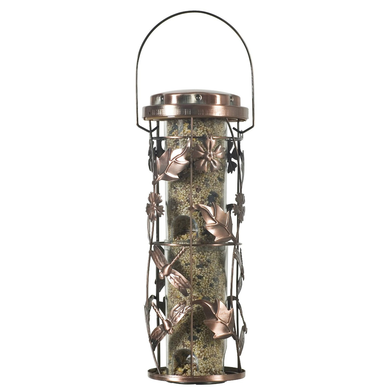Birdscapes 550 Copper Garden Wild Bird Feeder, 6-feeding Ports
