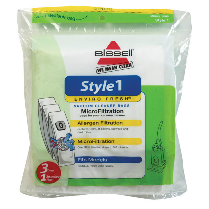 Bissell 3086 Enviro Fresh Style 1 Vacuum Cleaner Bag, Pack of 3