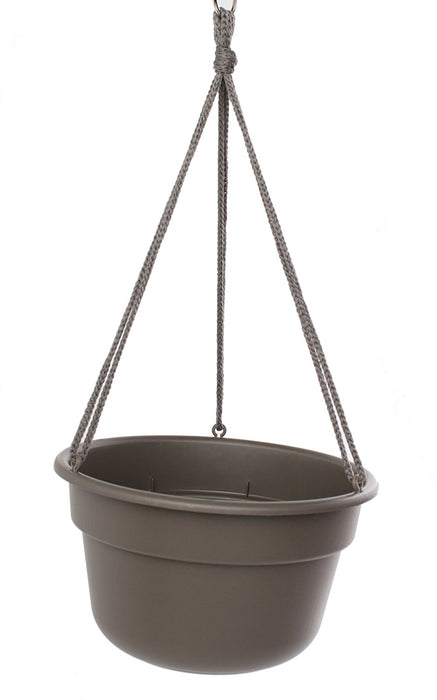 Bloem DCHB12-60 Dura Cotta Hanging Basket, Peppercorn, 12