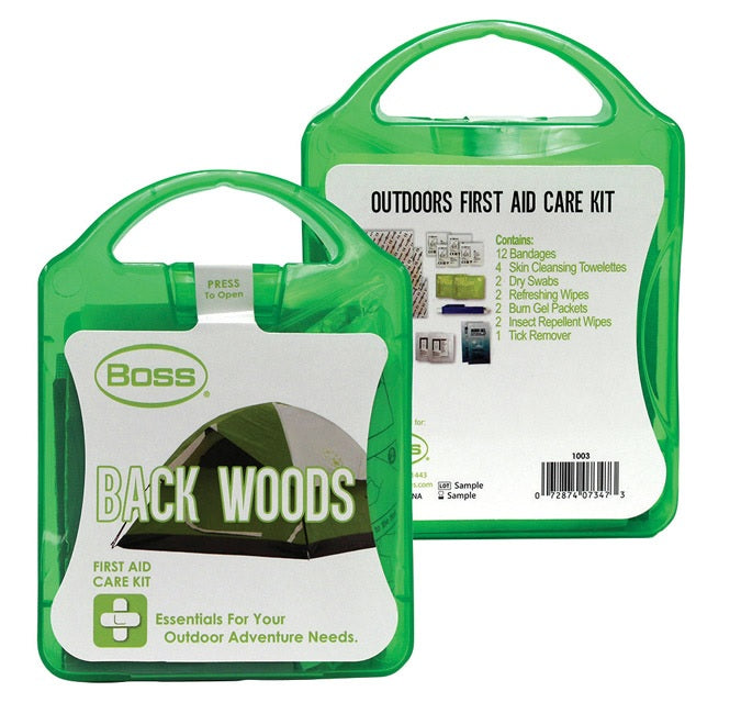 Boss 1003 Back Woods First Aid Kit, 25 Piece