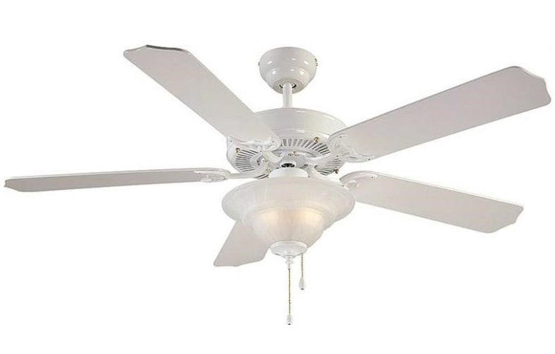 Boston Harbor CF-B-552+1F242WH Ceiling Fan, 52