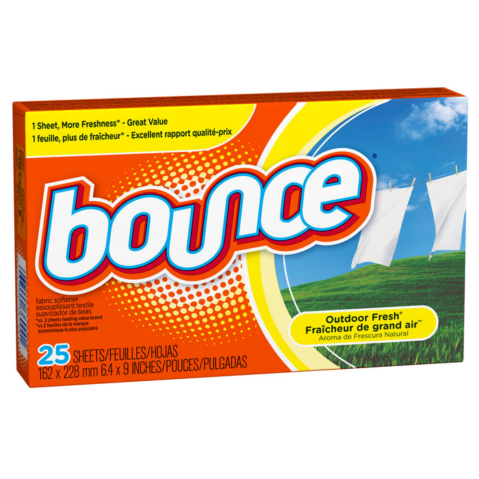 Bounce 36000 Fabric Softener Sheets, 25 Count