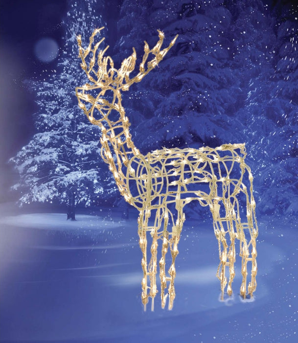 Brite Star 46-331-23 3-D Animated Standing Deer Wire Sculpture, 42