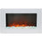 Cambridge CAM30WMEF-1WHT Electric Wall Mount Fireplace With Crystals, White, 30""