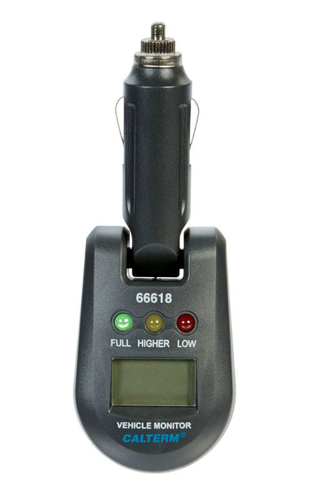 Calterm 66618CC LED Battery Tester, 12 / 24 Volts, Black