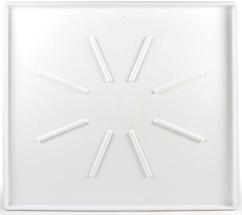 Low Profile Washing Machine Drain Pan With Pvc Fitting On Sale Plumbing Repair Parts At Low Price Lifeandhome Com