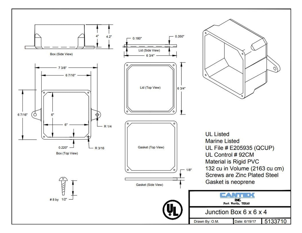 PVC Molded Junction Box, low price, best construction