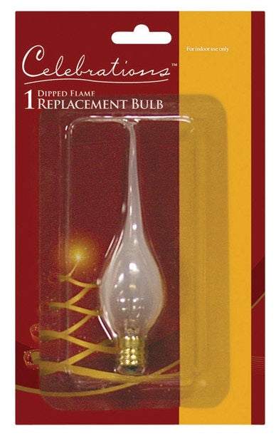 Celebrations 1082-71 Flame Tip Replacement Bulb, Glass