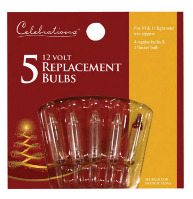 Celebrations 1145-2-71 Mini Replacement Bulbs, 12 V, Clear