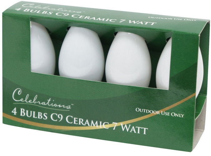 Celebrations UTTY2W11 C9 Ceramic Replacement Bulb, White