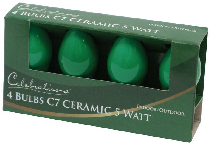 Celebrations UYTY2711 C7 Ceramic Replacement Bulb, Green
