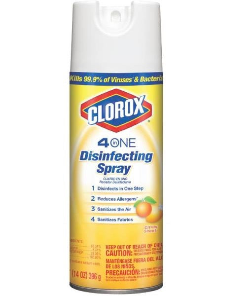 Clorox 31132 Disinfectant Spray, Citrus Scent, 14 Oz