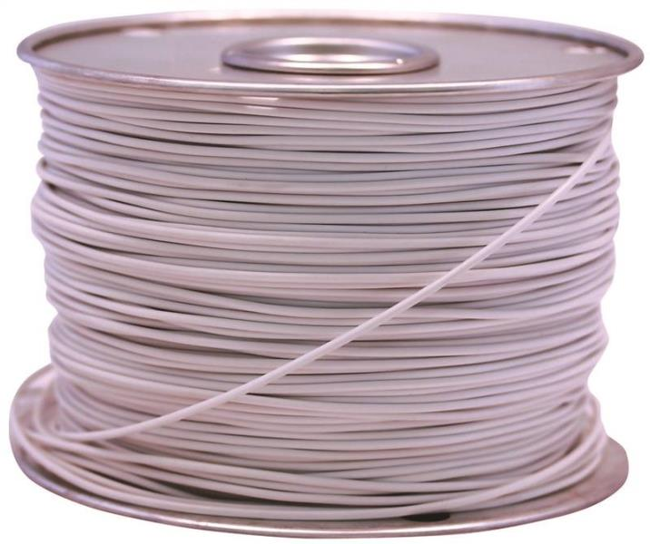 Coleman Cable 55669023 Primary Wire, 14-Gauge, 100-Feet Bulk Spool, White