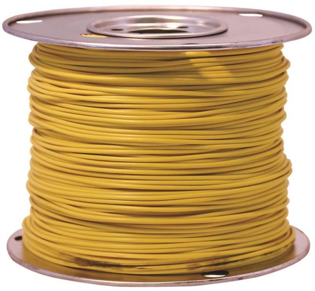 Coleman Cable 55670823 Primary Wire, 14-Gauge, 100-Feet Bulk Spool, Yellow