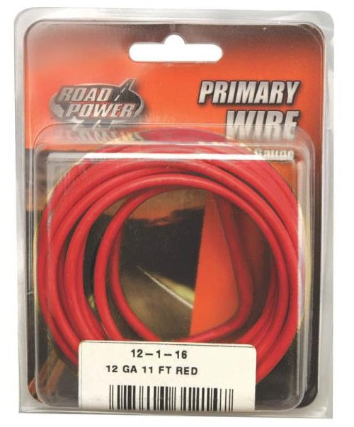 Coleman Cable 55671533 Road Power Primary Wire, 12 Gauge, 11', Red