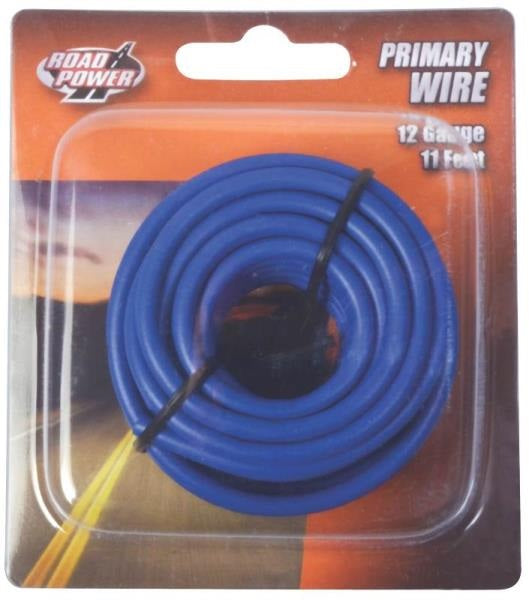Coleman Cable 55671633 Road Power Primary Wire, 12 Gauge, 11', Blue