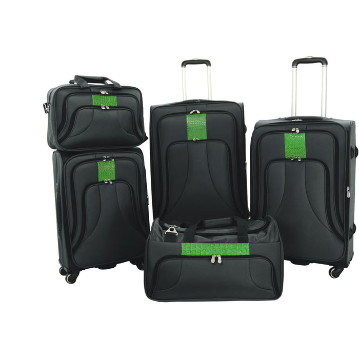 Cambridge COSMO5PC-28BLK Cosmopolitan Luggage Bag, Black, 5 Piece