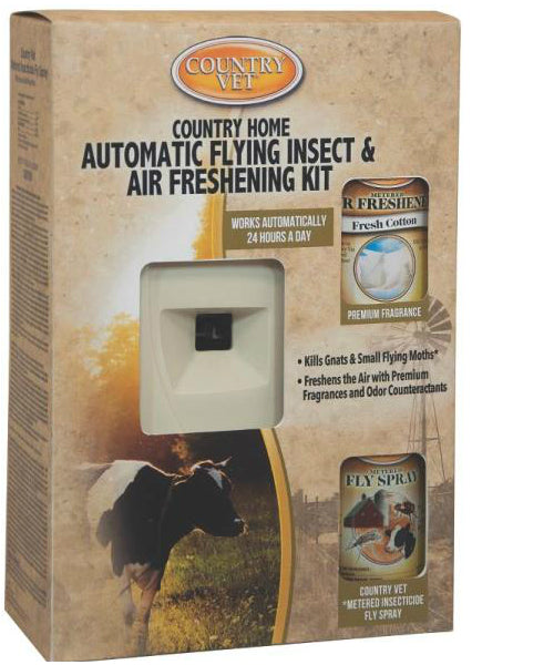 Country Vet 321968CV4A Automatic Flying Insect And Air Freshener Kit