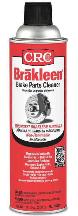 CRC 05089 Brakleen Brake Parts Cleaner, 19 Oz