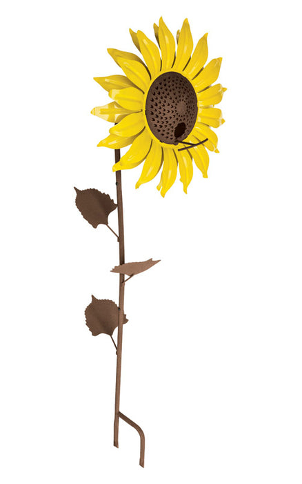 Desert Steel 409-103 Decorative Sunflower Wild Bird Feeder, Steel, 16 Oz