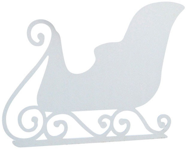 DHI 308031 Holiday Sculpture Silhouette, White, Plastic