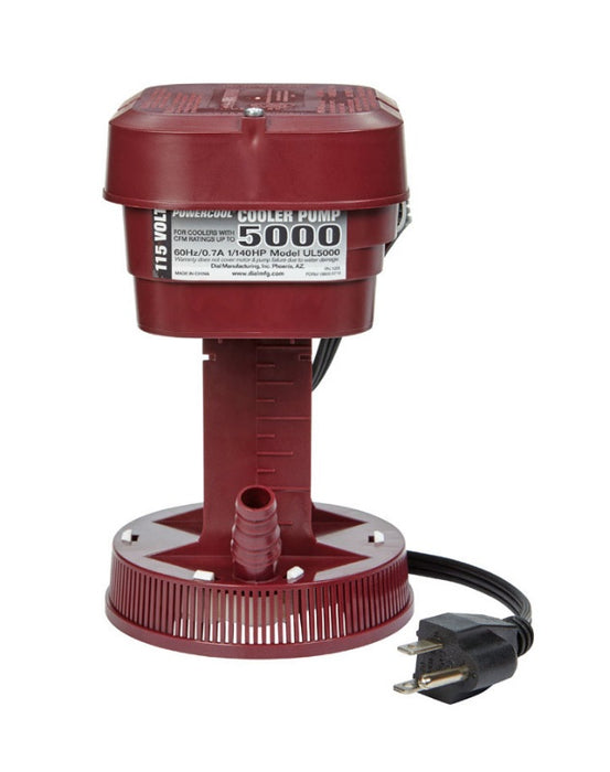 Dial 1055 Economy Ul5000 Pump, 115 V, 225 GPH, Red