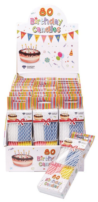 Diamond Visions 11 1334 Birthday Candles 80 Pack