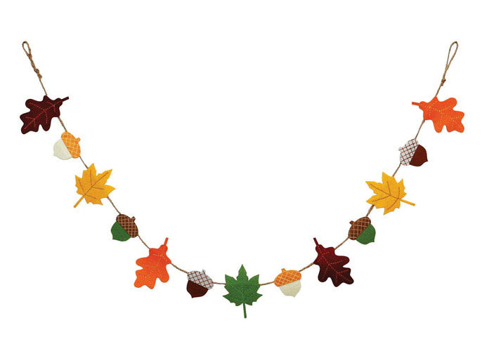 Dyno 3002179-1 Harvest Felt Garland Fall Decoration, Multicolored, 60