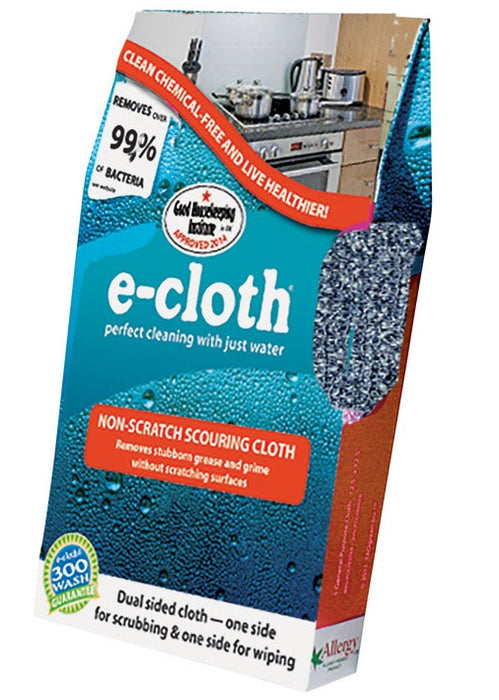 E-Cloth 10636 Non-Scratch Scouring Cleaning Cloth, 12.5