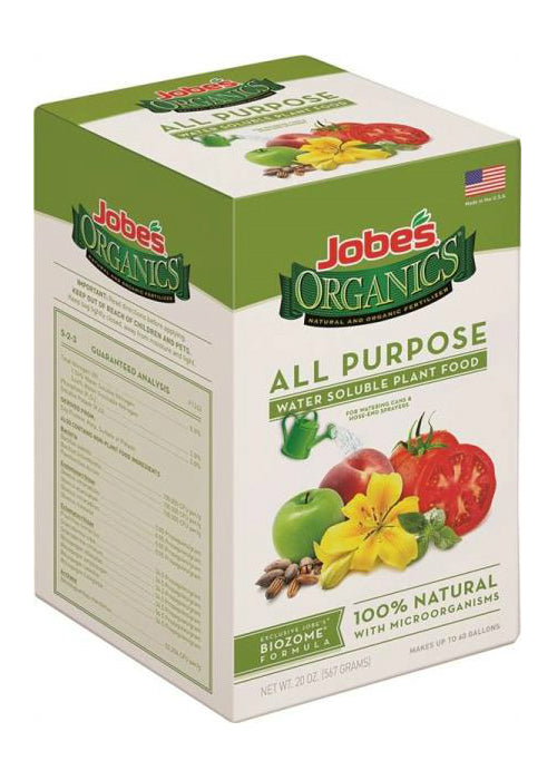 Easy Gardener 08252 Jobes Organic Water Soluble All Purpose Plant Food, 20 Oz