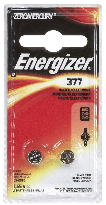 Energizer 377BPZ-2 Watch/Electronic Battery, 377, 1.5 volts, 2 Battery