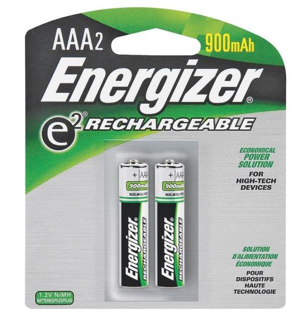 Energizer NH12BP-2 Rechargeable Batteries, AAA
