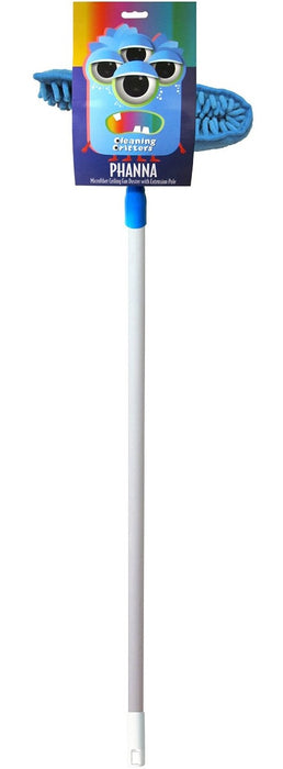Ettore 32001 Microfiber Ceiling Fan Duster With Extension Pole
