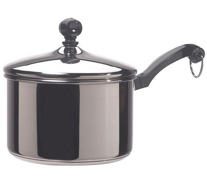 Farberware 50002 Stainless Steel Covered Saucepan, 2 Quart
