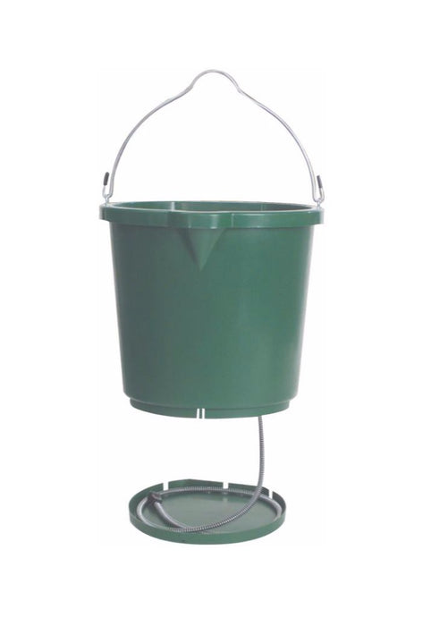 Farm Innovators FB120 Heated Flatback Bucket, Green, 5 Gallon