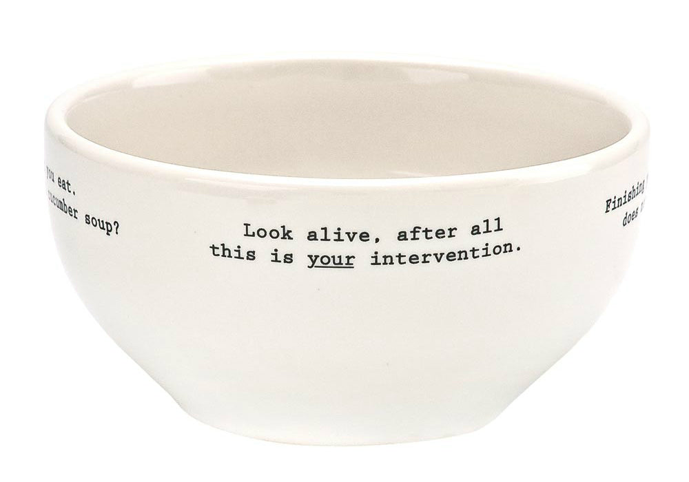 Fish's Eddy ANFB742P464 Intervention-ware Cereal Bowl, 22 Oz.