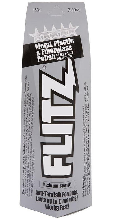 Flitz BU 03515 Metal, Plastic and Fiberglass Polish Paste Tube, 5.29 Oz